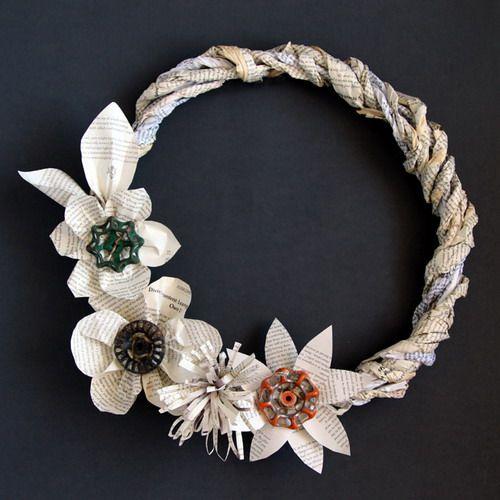 decoracion navidad reciclaje o con material reciclado