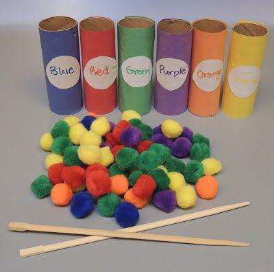 Diferentes actividades para enseñar los colores primarios