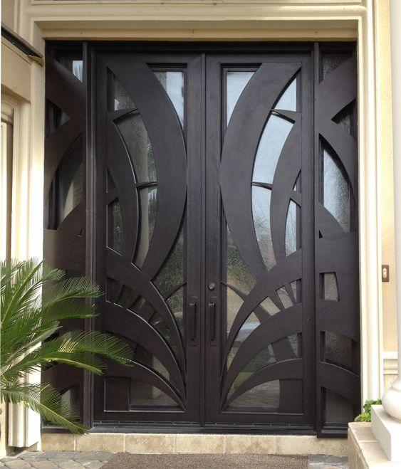 Diseños de puertas principales de forja