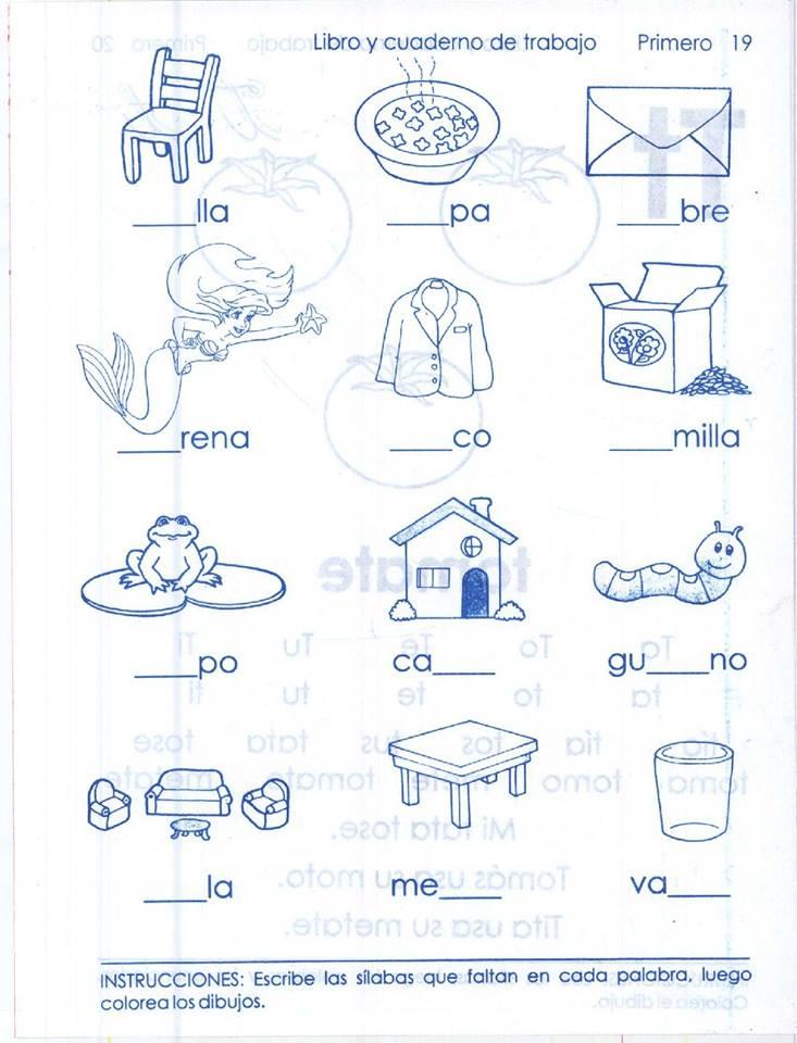 Imágenes de manualidades para enseñar a leer