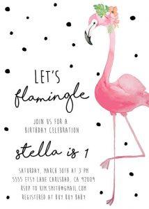 Invitaciones de flamingos