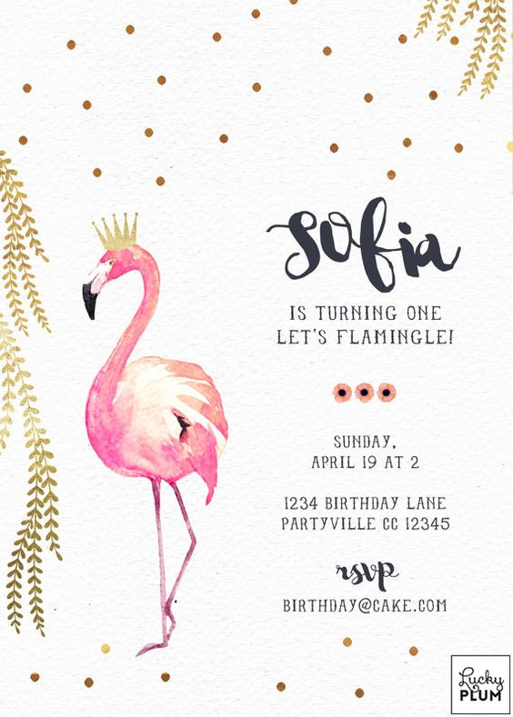 Invitaciones de flamingos