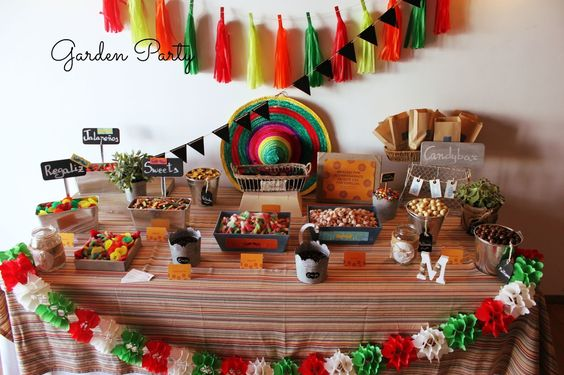 Mesas de postres para fiestas patrias