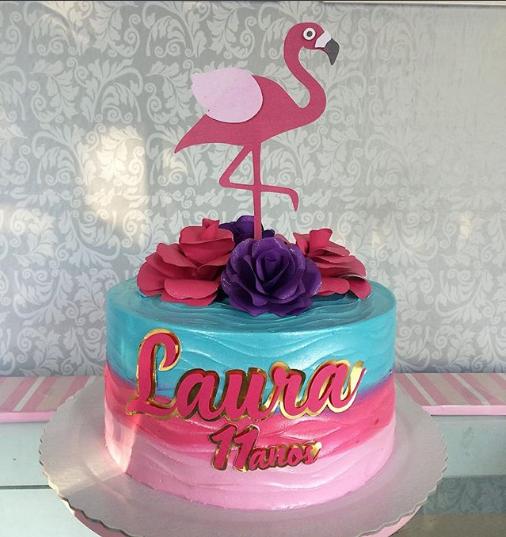 Pasteles de flamingos