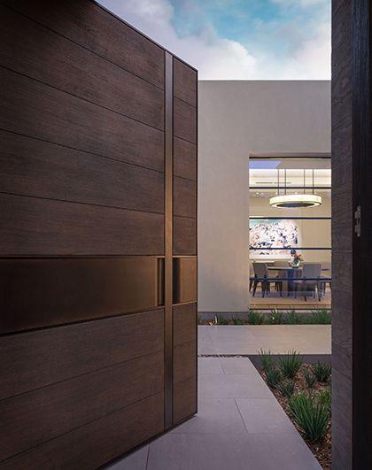 Puertas principales minimalistas