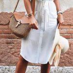 vestidos camiseros de moda