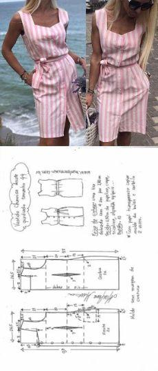 vestidos camiseros de moda patrones y moldes