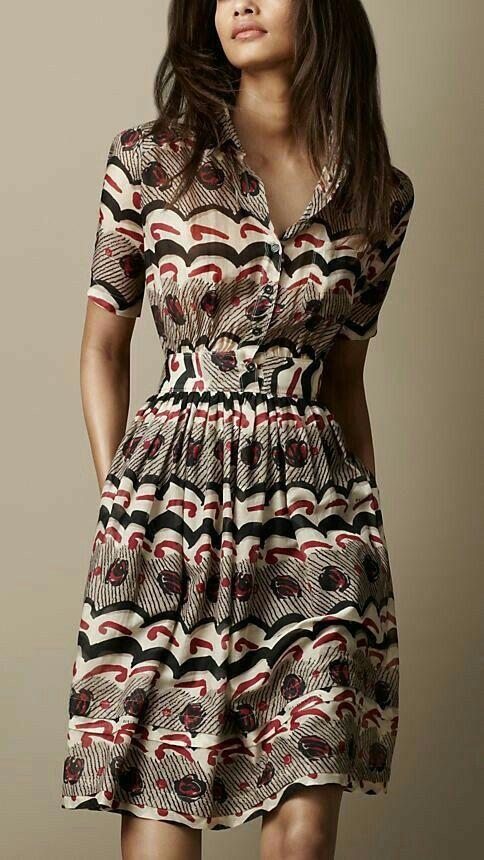 vestidos camiseros estampados