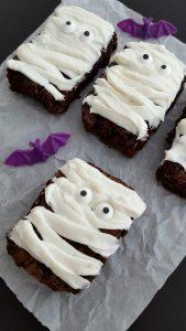 Brownies de fantasmas para halloween