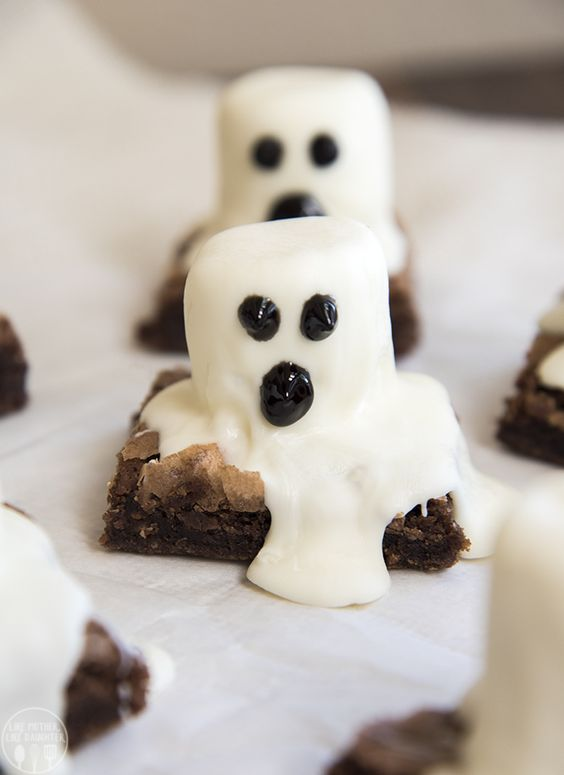 Brownies de fantasmas para halloween