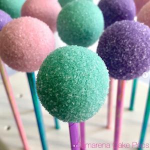 Cakepops para fiesta infantil de sirenita