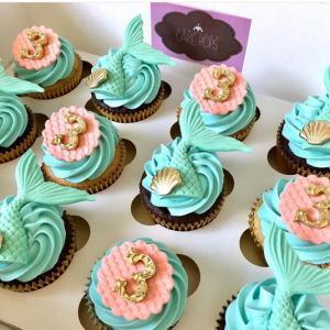 Cupcakes para fiesta de sirenita