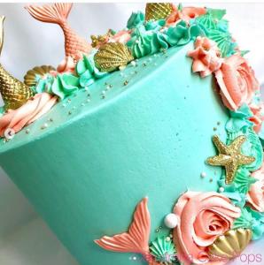 Diseños de pasteles para fiesta infantil de sirenita