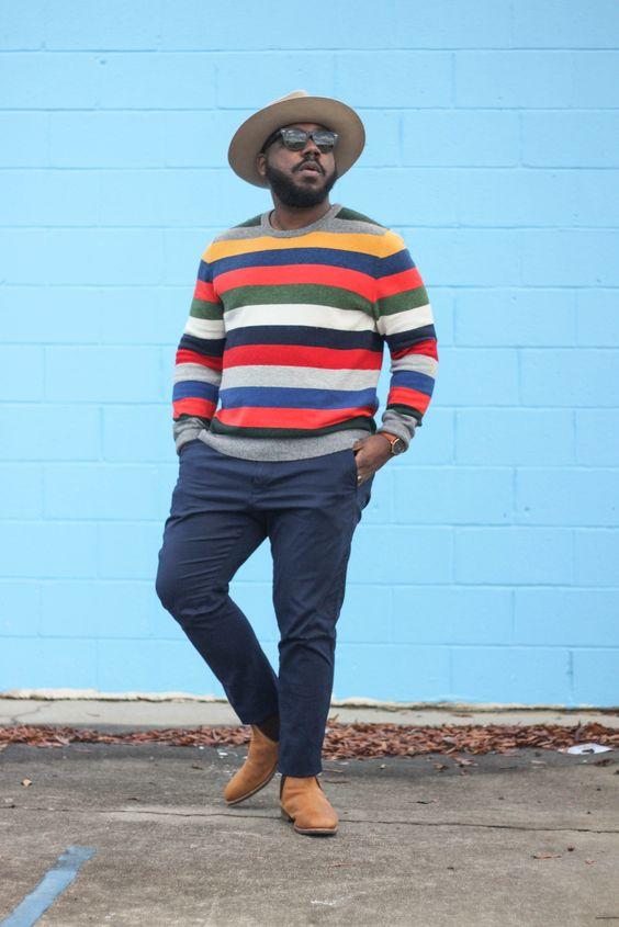 Estilo hipster para hombres plus size