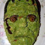 Guacamole al estilo frankenstein para halloween