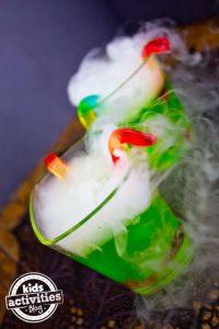 Ideas de bebidas con niebla para halloween