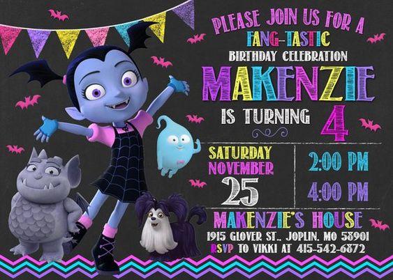 Vampirin Party Invitations