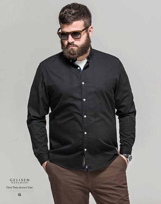 Looks para el trabajo plus size para hombre