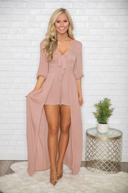 maxi vestidos con shorts lisos