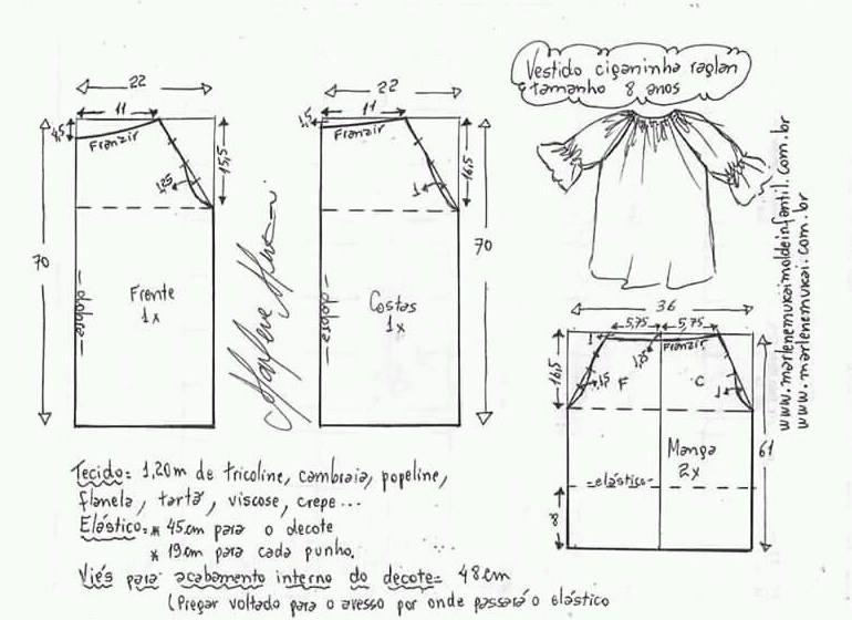 f64de9ae46 Moldes y patrones de vestidos para niñas modernos