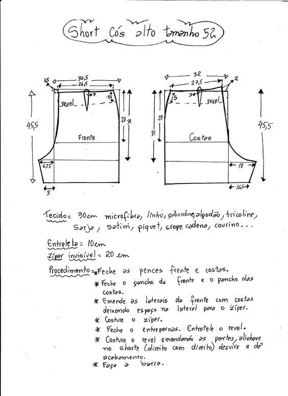 9a8c8f4a3ecbdf Short para dama ideas con moldes y patrones | Fáciles y para imprimir