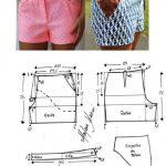 short para dama ideas con moldes y patrones