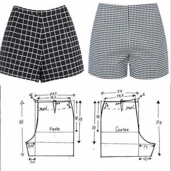 short para dama ideas con moldes y patrones de moda