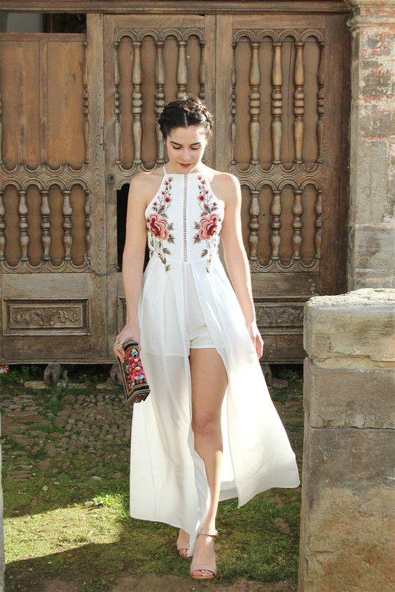 vestido con short 2019