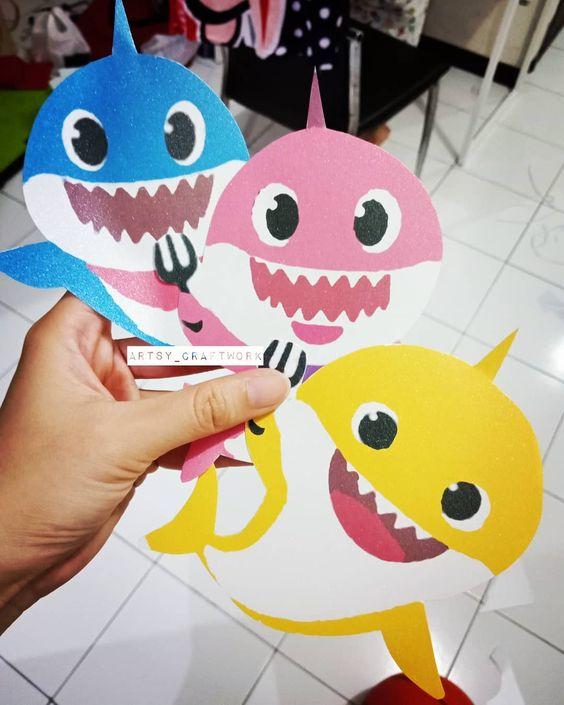 baby shark invitacion