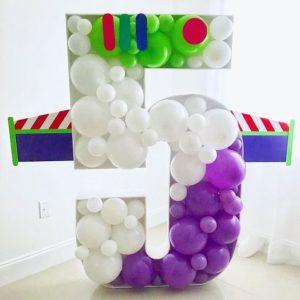 decoracion con globos tecnica mosaico 2018 - 2019
