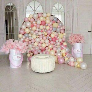 ideas para decorar con globos tecnica mosaico