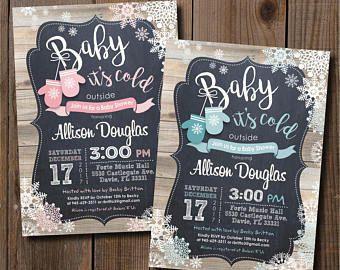 Invitaciones para baby shower invernal