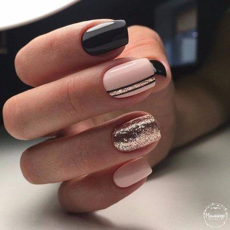 detalles negros para un toque elegante a tus uñas