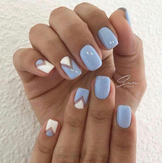 diseños de unas en tonos azules
