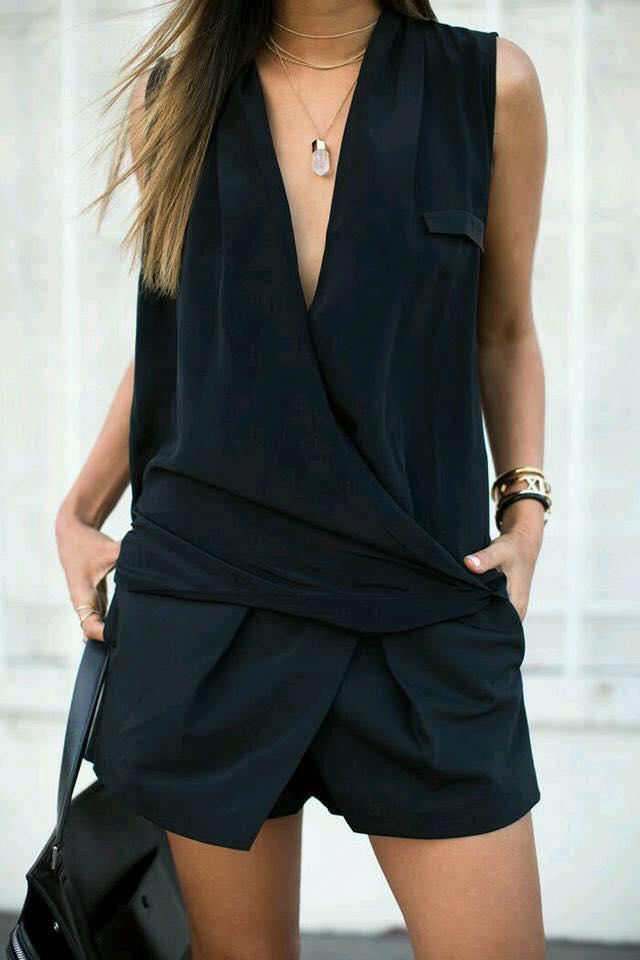 Blusas cruzadas en color negro 2019