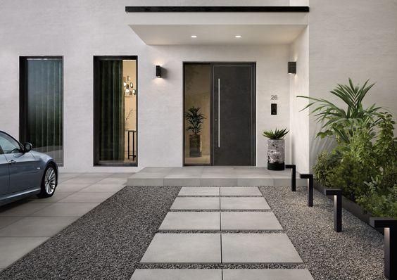 diseños de entradas y recibidores bonitos y modernos