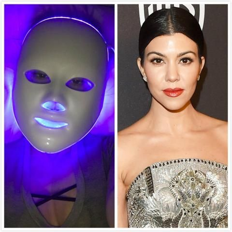 mascara facial con luces led