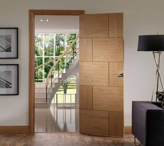 Diseño de puertas de madera para entrada principal