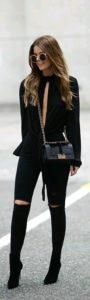 Moda para mujeres de 40 2019 con estilo en color negro