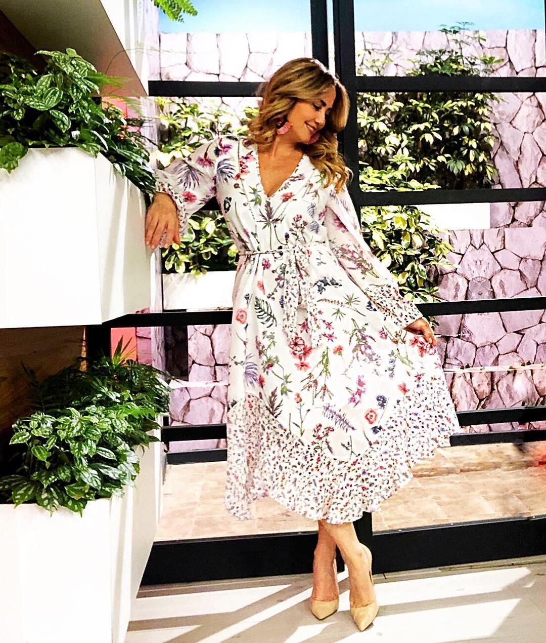 Moda para mujeres de 40 anos 2019 con vestido