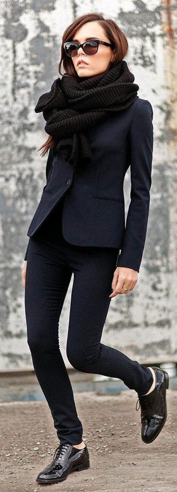 Moda para mujeres de 40 modernas 2019 en color negro