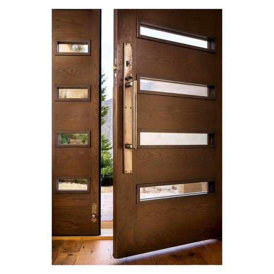 Modelos de puertas de madera modernas 2 como organizar for Modelos de puertas de madera modernas