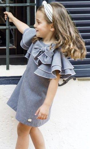 Outfit para niñas 2019 con vestido