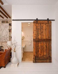 Puertas corredizas de madera