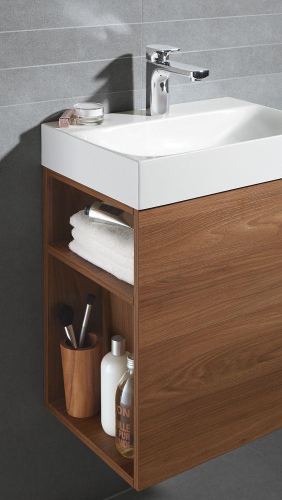 Armarios para baños pequeños elegantes