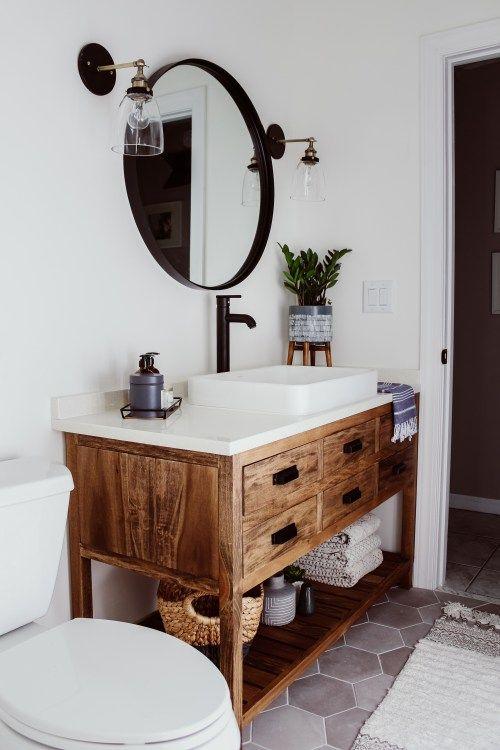 Muebles de baño rustico