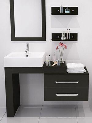Muebles de madera para baños pequeños