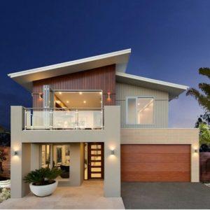 Como diseñar una casa de dos pisos con porton