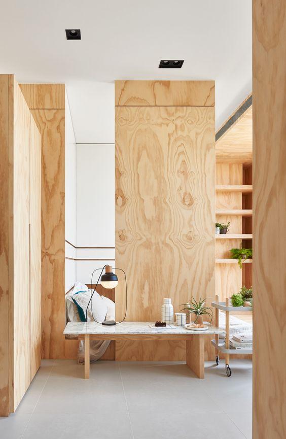 Como dividir un cuarto con madera de triplay ideas - Como adornar una pared ...