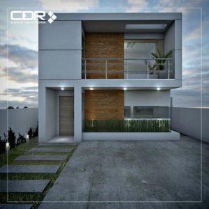 Fachadas de casas sencillas de dos pisos con balcon